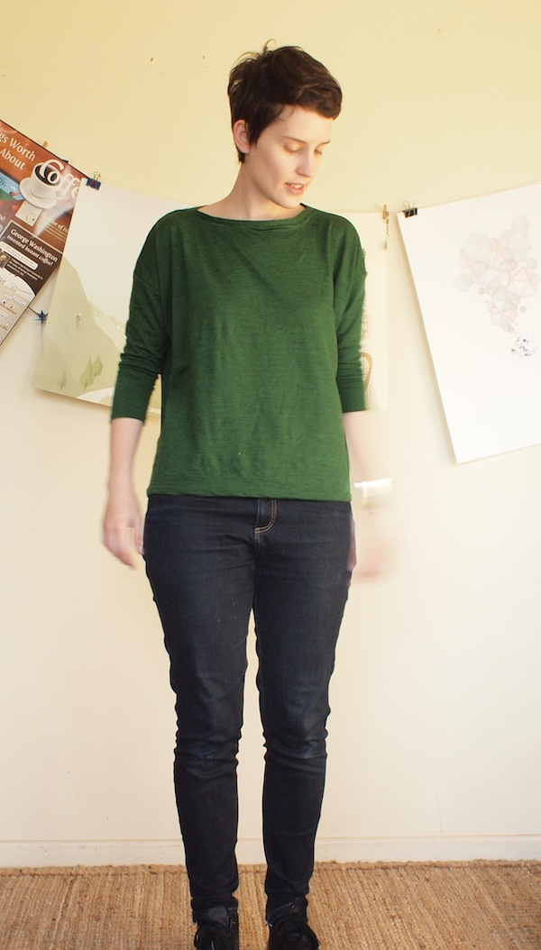 boxy green top